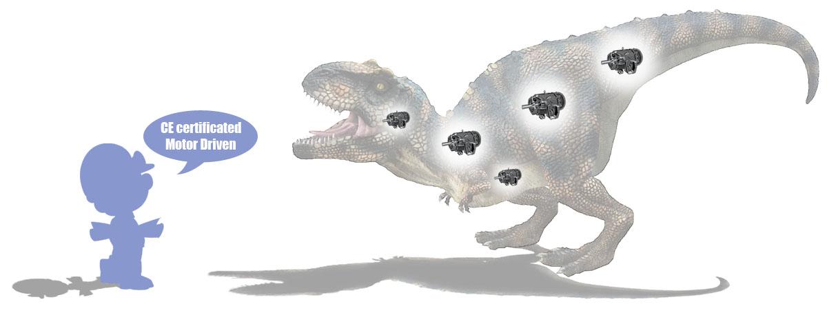 Motor Driven Animatronic Dinosaur