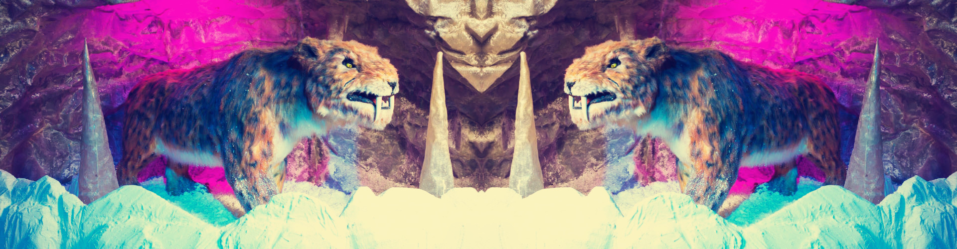 Animatronic smilodon Banner