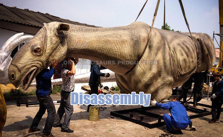 Dismantle Animatronic T-Rex