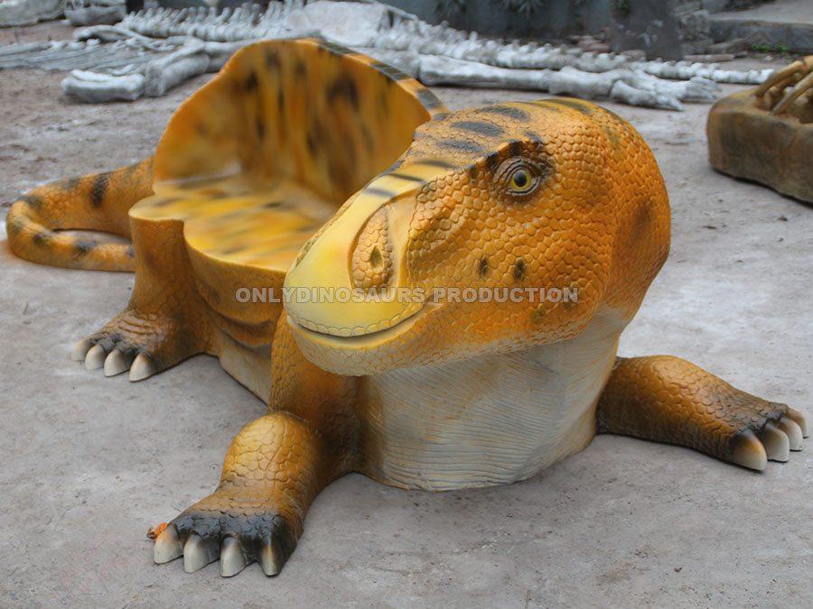 Fiberglass Iguanodon Bench