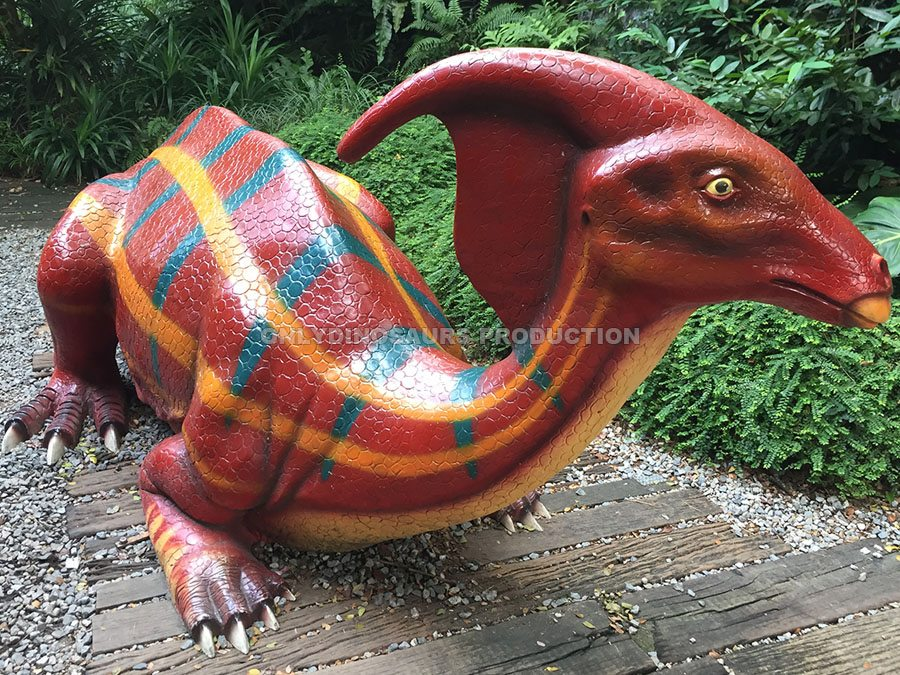 Fiberglass Parasaurolophus Sculpture