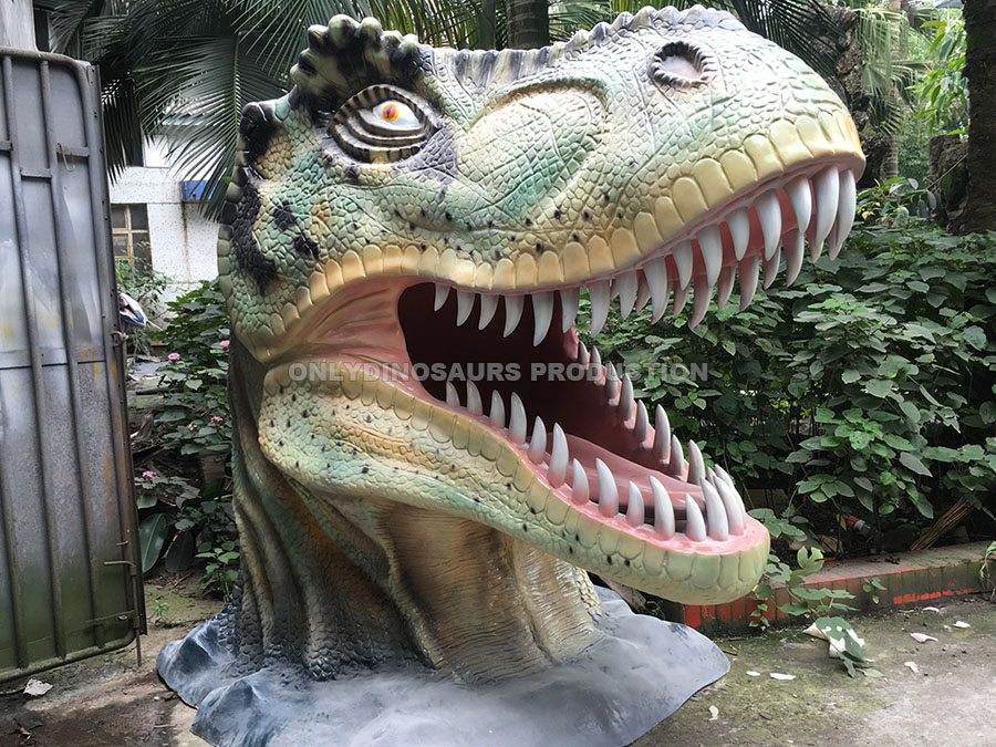 Fiberglass T-Rex Head Landscape