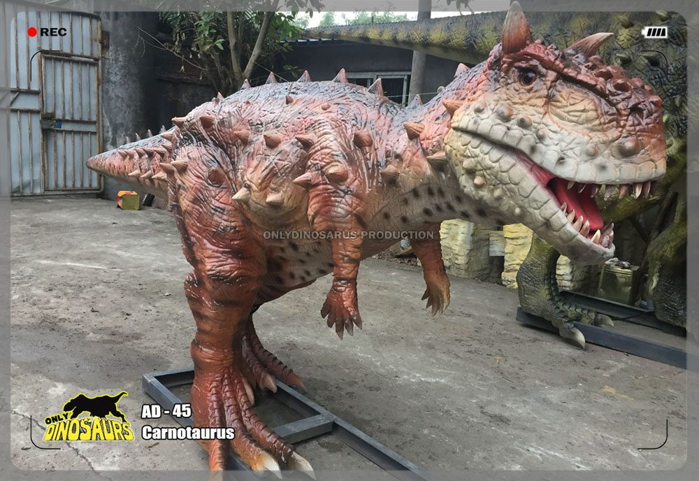 Animatronic Carnotaurus Model