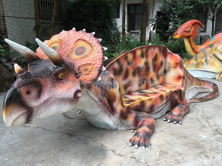 Fiberglass Triceratops Bench
