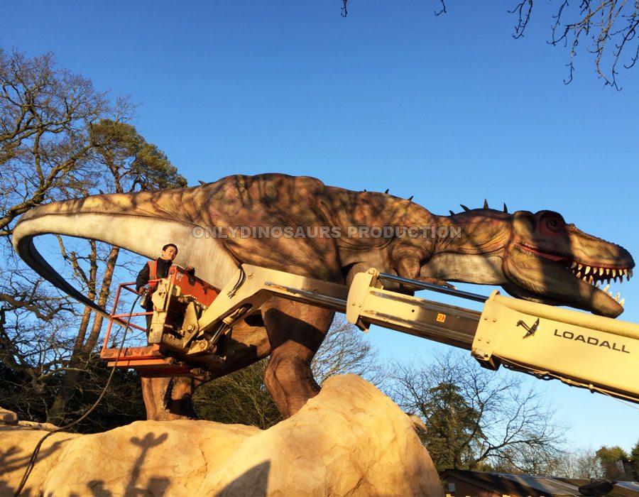 Animatronic T-Rex Installation
