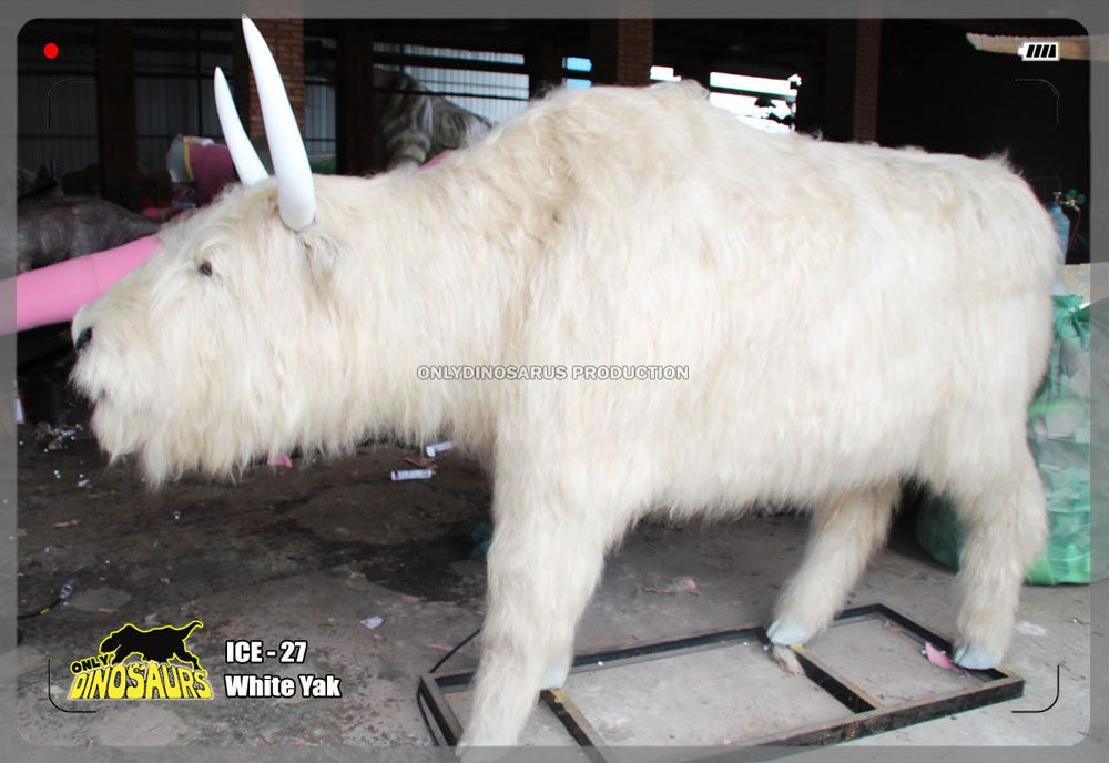 Animatronic White Yak