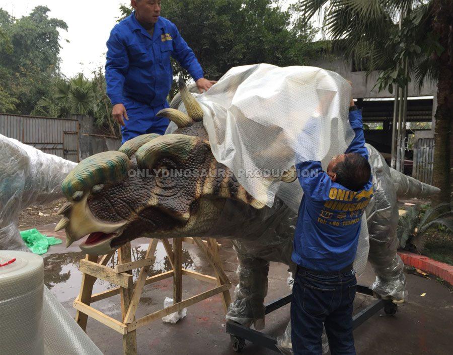 Packing Animatronic Dinosaur