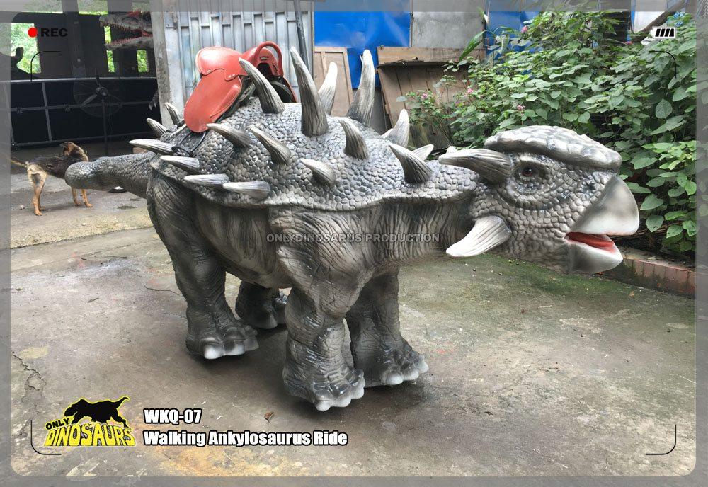 Walking Animatronic Ankylosaurus Ride