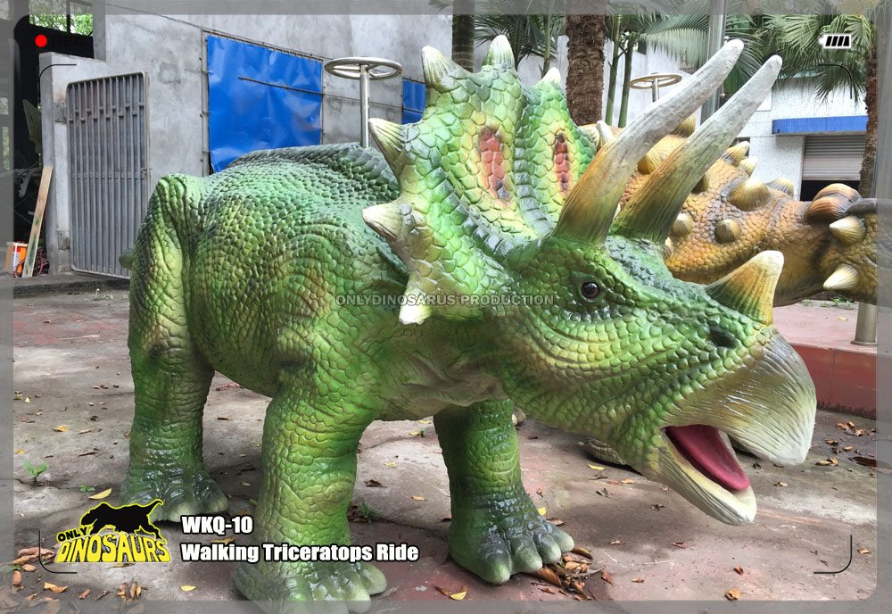 Walking Animatronic Triceratops Ride