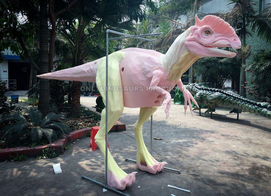 Dilophosaurus Costume Sculpture Work