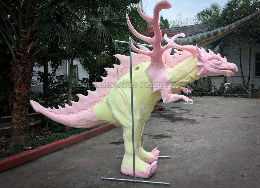 Fire Dragon Suit Sculpture Work