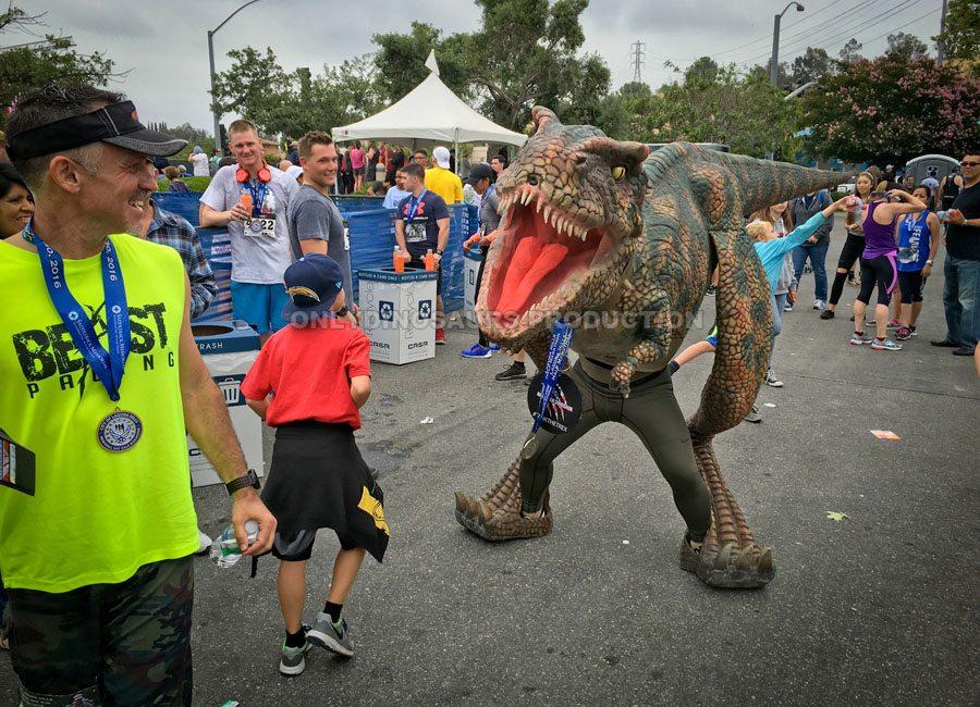 T-Rex Costume in Sporting Event
