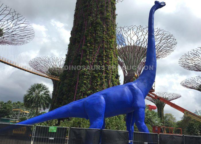 Animatronic Blue Cartoon Brachiosaurus