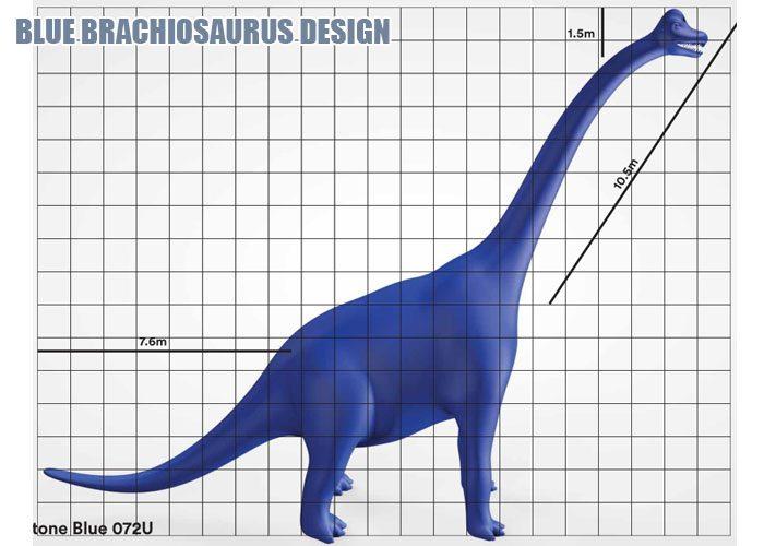 Blue Brachiosaurus Design