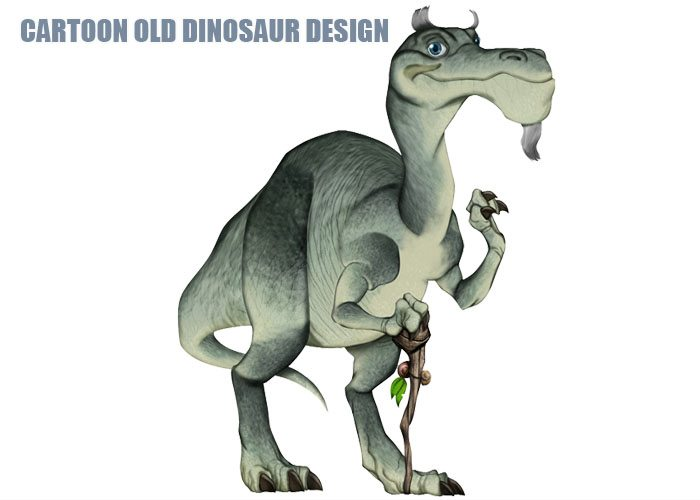 Cartoon Old Dinosaur Design