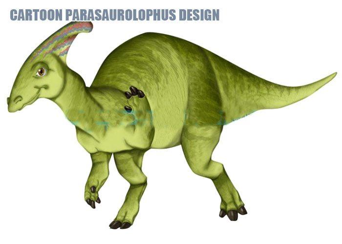 Cartoon Parasaurolophus Design