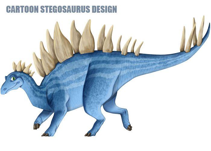 Cartoon Stegosaurus Design