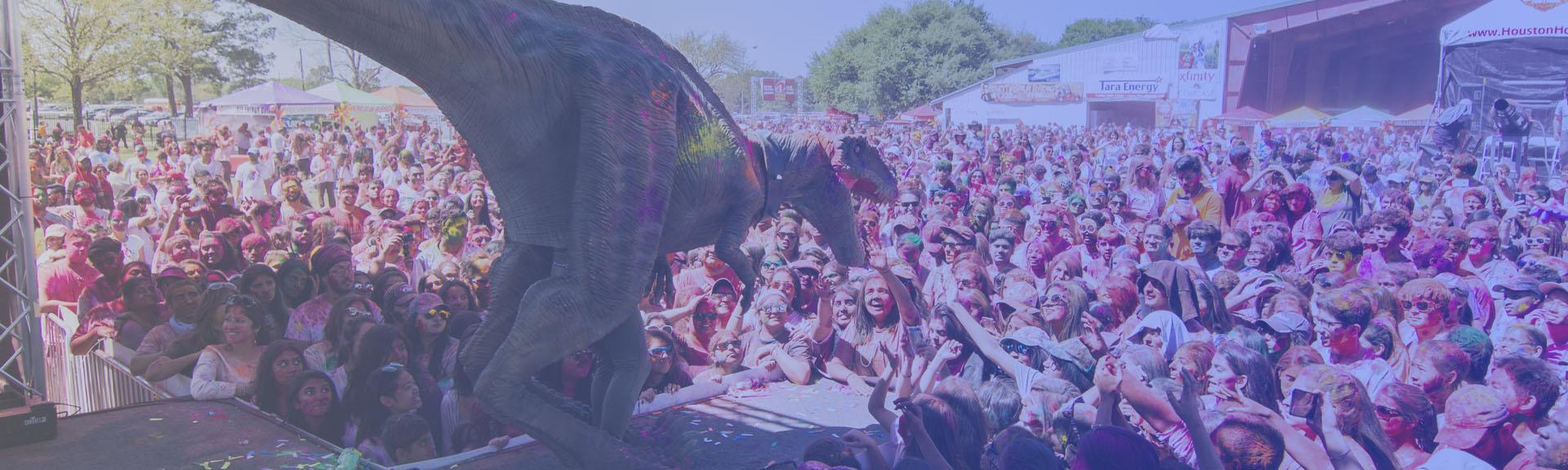 Dinosaur Costume for Festival Banner