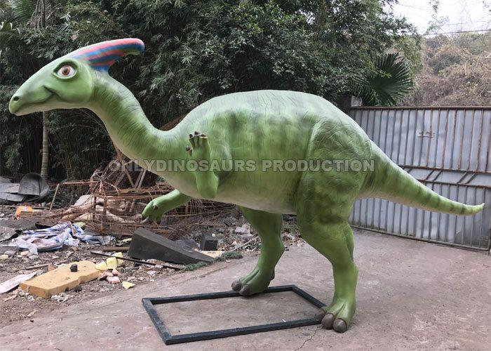 Fiberglass Cartoon Parasaurolophus Statue