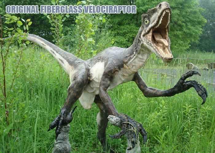 Fiberglass Velocitraptor statue