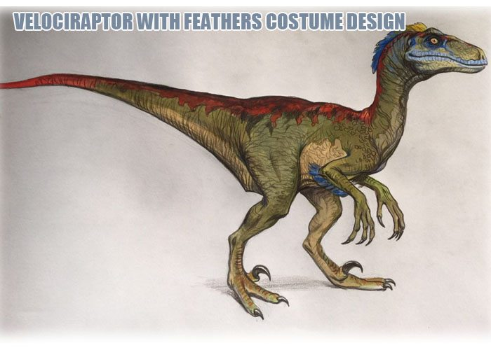 Raptor With Feather Design