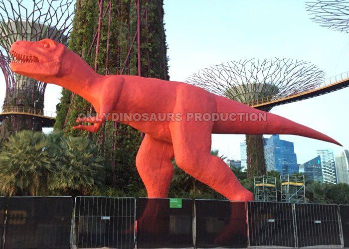 Red Cartoon T-Rex Model