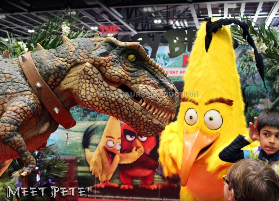 T-Rex Costume and Angry Bird