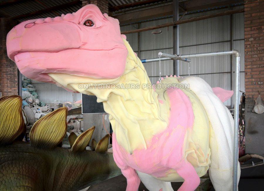 T-Rex Suit Worked Sculpture