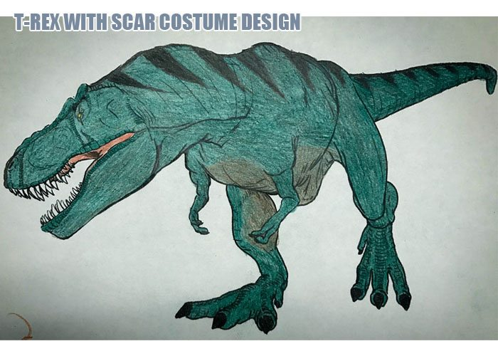 T-Rex with Scar Design