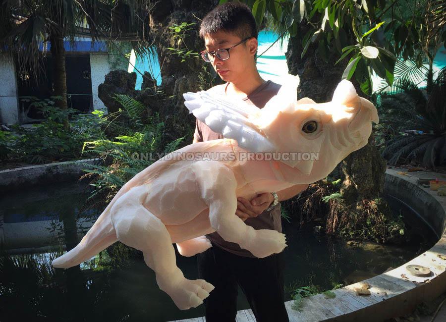 Triceratops Puppet Sculpture Work