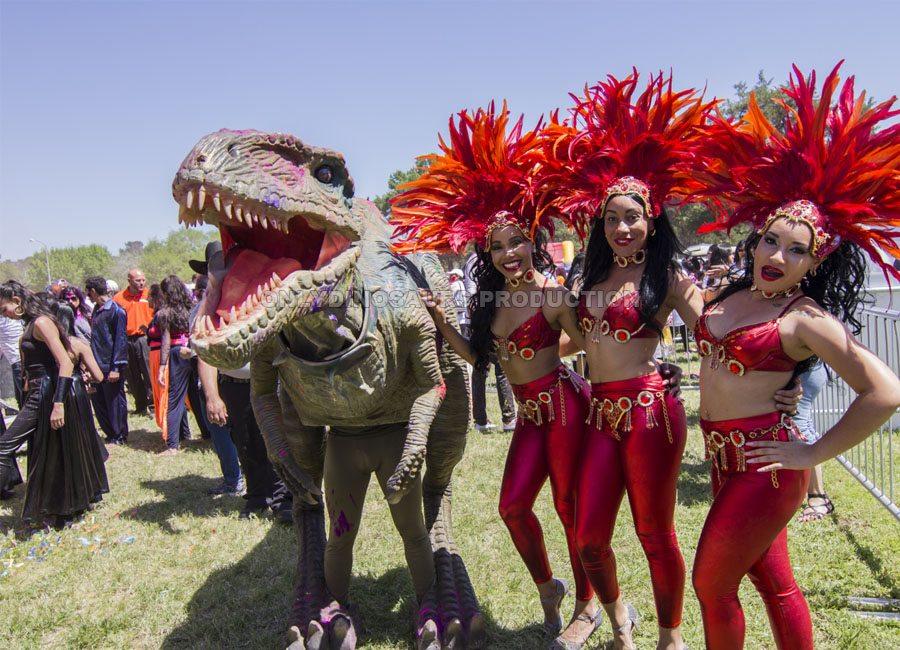 VelociRaptor Costume for Holi Festival