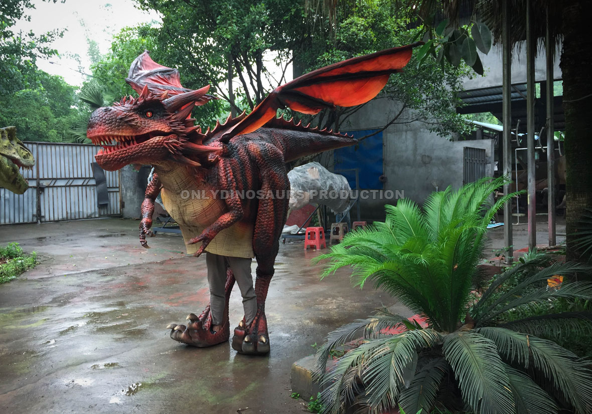 Walking Scarlet Dragon Costume