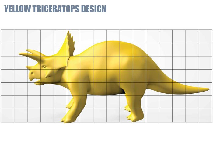 Yellow Triceratops Design