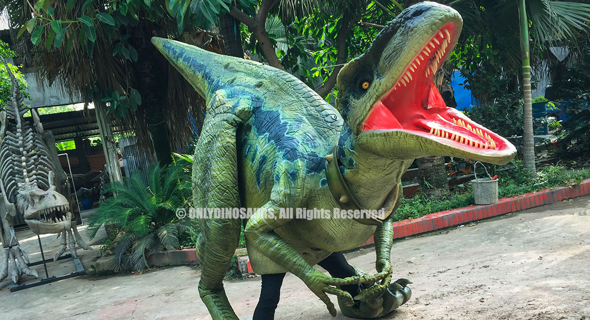Lifelike Velociraptor Costume for Sale
