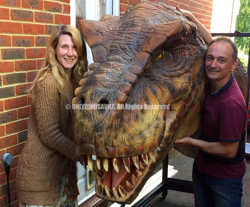 Pneumatic T-Rex Head for UK Customer