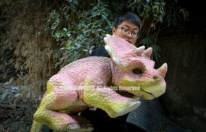 Realistic Triceratops Hand Puppet