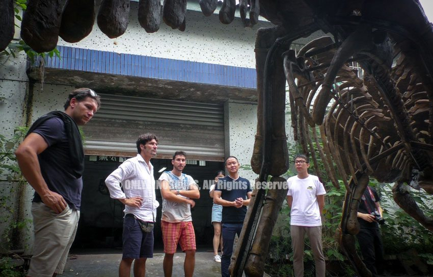 Italy-Clients-Finalize-Animatronic-Dinosaur-Order